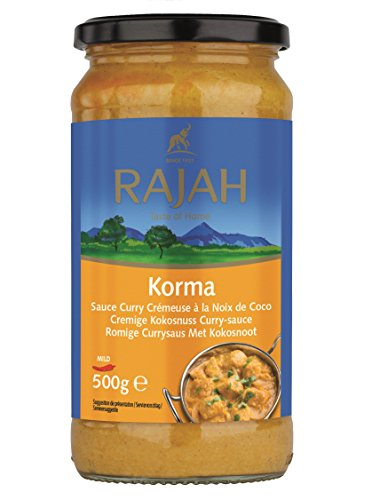 Rajah Korma Kokos-Curry-Sauce, 500 Gramm