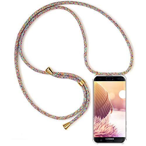 ToDo eu Carcasa de movil con Cuerda para Colgar Colgante movil Carcasa de móvil Samsung Galaxy S7 Edge - con Cordon para Llevar en el Cuello Collar de Banda de teléfono Celular Collar Celular