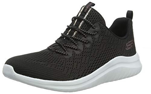 Skechers Damen Ultra Flex 2.0-Lite-Groove Sneaker, Schwarz, (Navy Knit Mesh/Pink & White Trim Bkw), 40