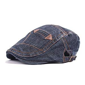 Beret Hats for Men/Women  Washed Newsboy Denim Cap