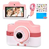 Touch Screen Kids Camera, Upgrade Shockproof Digital Video Camera with 3 Inch IPS Screen 48MP Dual Lens for Boys Girls, 1080 HD Video Camcorder for Kids Age 3-12, Toy Camera with Durable Lanyard