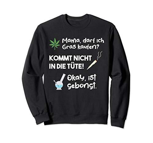 Lustiges Cannabis Marihuana Weed Wasserpfeife Sweatshirt