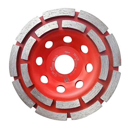 NIKOVAS 1set 5 inch Diamond Grinding Wheel Disc Double Row Diamond Grinding Cup Wheel Concrete Screed Stone Angle Grinder Tool