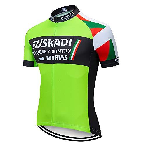 Maillot Bicicleta Hombre Maillot Ciclismo Verano Camiseta Secado Rápido Ropa de Ciclismo para Hombres con Mangas Cortas