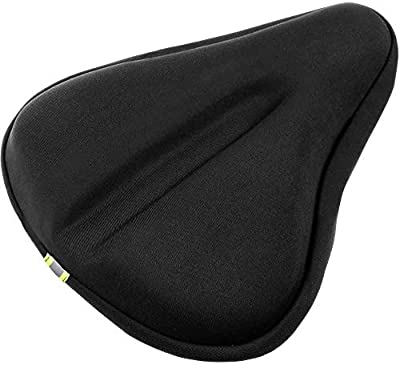 LAFALInK Gel Bike Seat Cover, Bike Seat Cushion for Women Comfort,Wide Gel Soft Pad Most Comfortable Exercise Bicycle Saddle Cover Universal Fit Exercise Bike and Outdoor Bikes (9.5)