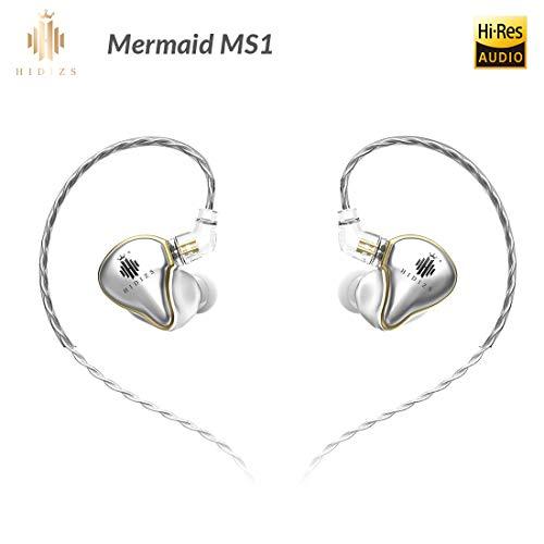 HIDIZS MS1 In-Ear-Monitorkopfhörer, Hi-Res-Kopfhörer mit Kabel Audiophile, dynamische Membran-Hi-Fi-IEM-Kopfhörer mit abnehmbarem Kabel (Silber)