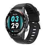 Leisont 3D Touch SmartWatch Hombres Monitor de frecuencia cardíaca 24 Horas Bluetooth 5.0 Smartwatch Ranuras de Apoyo China Negro