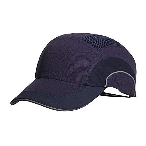 JSP ABR000-000-500 Hardcap A1+ - Gorra con visera larga, antigolpes, 7 cm, color azul marino
