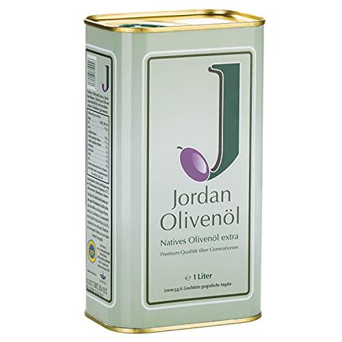 Jordan Olivenöl - Natives Olivenöl Extra von der griechischen Insel Lesbos - traditionelle Handernte - Kaltextraktion am Tag der Ernte - Kanister im traditionellen...