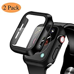 ❥[Easy Installation]: Very easy to install, takes less than one minute, no bubble warranty. ❥[2 in 1 Design]: The tempered glass and the bumper case are integrated perfectly, access to all controls, buttons, sensors. ❥[Anti-Scratch]: With strong 9H h...