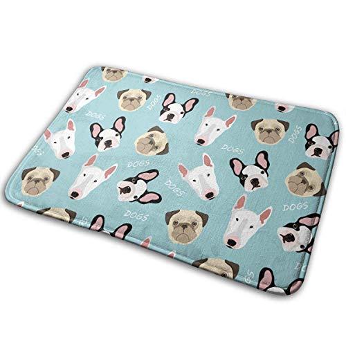 """BLSYP Felpudo Bull Terrier Doormat Anti-Slip House Garden Gate Carpet Door Mat Floor Pads 15.8"""" X 23.6"""""""