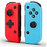 ASQW Controller per Nintendo Switch, Wireless Rosso e Blu Controller Sostituzione per Joy con, Bluetooth Gamepad Joystick Joypad Compatibile con Nintendo Switch Controller