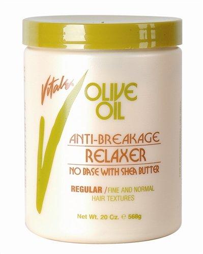 Vitale Vitale olive oil anti breakage no base regular relaxer 20 ounce, Beige, 20 Ounce