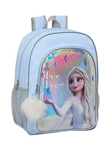 Safta 612015180 Mochila grande adaptable a carro Frozen II  Azul Claro lata  escolar