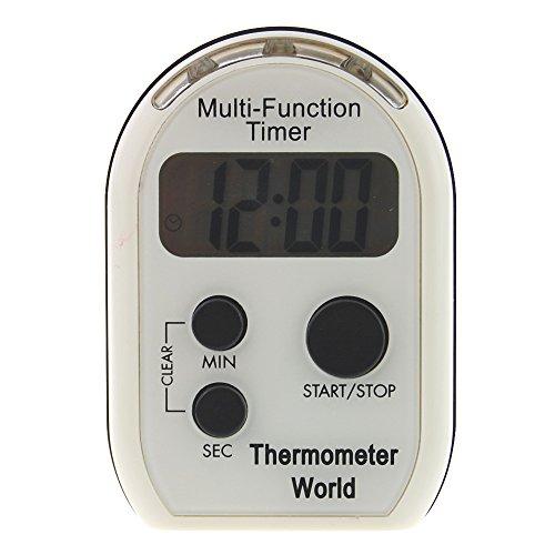 Multifunktionaler Timer mit Vibrationsalarm, hörbarem und blinkendem Alarm, ideal für Seh- und Hörgeschädigte