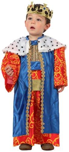 Atosa-12780 Atosa-12780-Disfraz Rey Mago niño bebé-Talla 0 a 6 meses- Color Surtido-Navidad, Multicolor, (12780)