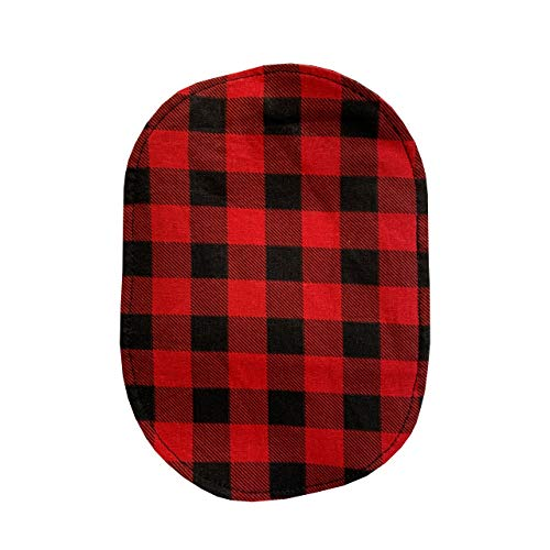 Ostomy Bag Cover Red Buffalo Check, 3.25 inch Opening