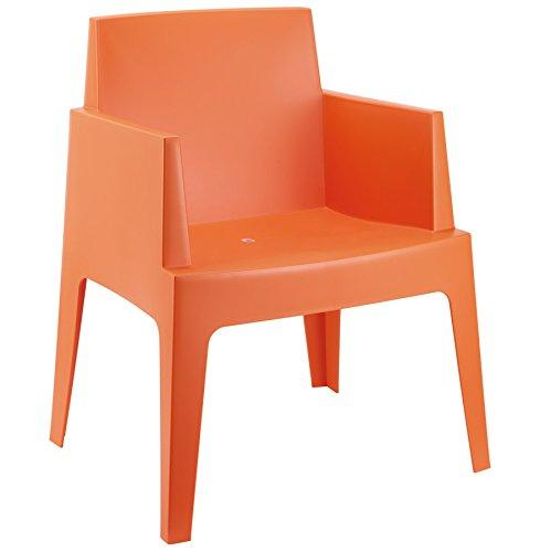 Alterego - Chaise design 'PLEMO' orange en matière plastique