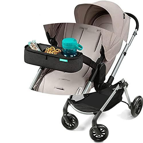 Universal-Kinderwagen-Tablett,Abnehmbares Snack-Tablett für Kinderwagen mit Isolierten Trinkbecherhaltern,Snack-Tablett-Aufsatz mit Spielzeugschlaufe