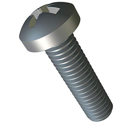 M3 x 35mm Pernos Roscados con Cabeza Cilindrica Paquete de: 25pc DIN 7985 ISO 7045 Acero Galvanizado Cruciforme Phillips Pernos para Equipos de Maquinaria y Muebles para el Hogar M3x35mm