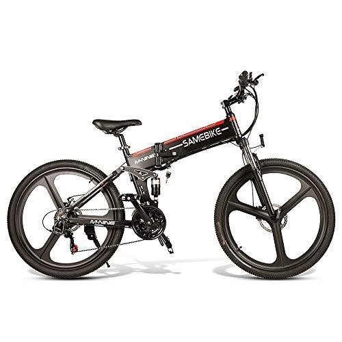 Lixada 26 Pulgadas 350W Bicicleta Eléctrica Plegable Asistencia Eléctrica Asistida Bicicleta Eléctrica Banda de Borde Unido 48 V