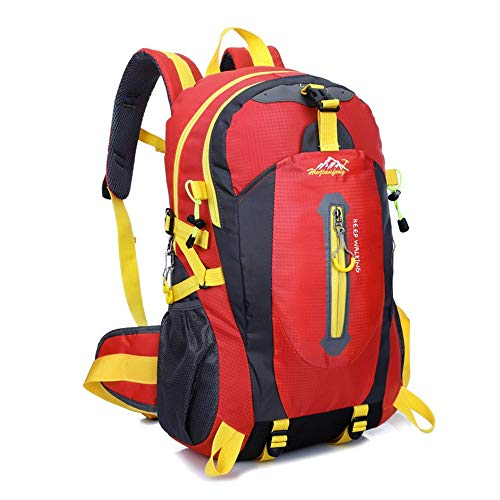 Outdoor Sport Trekking Camping Pack 40L Lightweight Outdoor Sports Backpack Camping Hiking Waterproof Rucksack Mountaineering Bag For Traveling Hiking Backpack Waterproof (Color : Red, Size : 40L)