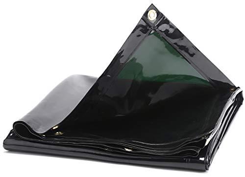 OASD 6X10FT 14 mil Flame Retardant Dark Green Tinted Transparent Vinyl Welding Curtain/Welding Screens Grommets