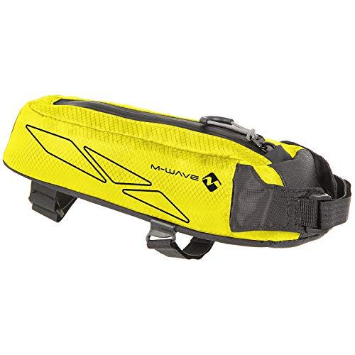 M-Wave Rough Ride Top Bolsa para Tubo Superior de Bicicleta, Color Amarillo neón, Unisex Adulto, ca. 7x8,5x29 cm