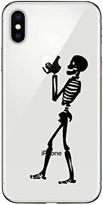 iPhone X Case/iPhone Xs Case,Blingy's New Funny Style Transparent Clear Soft TPU Protective Case Compatible for iPhone X and iPhone Xs (Skeleton)