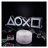 ZHAHAPPY Luces de Noche de ilusión led 3D-Accesorios de Playstation PS4 5 Xbox Gamepad lámpara de Lava Regalo Creativo para Amigos decoración de Escritorio de Sala de Juegos