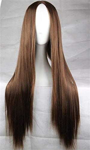 75 cm Perruque longue Cosplay DROITE cheveux résistant à la chaleur
