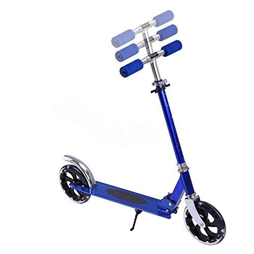 HYE-SPORT Scooters para niños Manillar Ajustable - Sistema Plegable de liberación rápida de Freno Trasero - Juguetes de Equilibrio de Entrenamiento para niños de 8 años en adelante