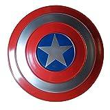Captain America Shield Metal 1: 1 Legendary Series Movie Version Puntelli Portatili Halloween Superhero Costume retrò Scudo Halloween Bambini Adulti 32 Cm