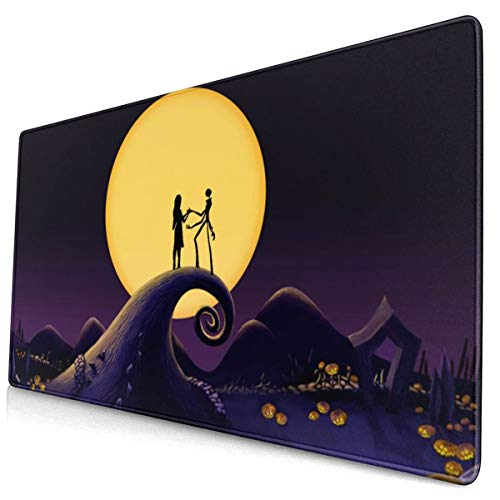Halloween Town Christmas Gaming Mouse Pad Desk Mouse Mat Large Size 15.8x29.5 x0.12inches Computer Keyboard Mousepad for Gaming and Office Home