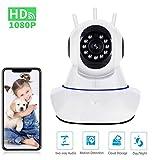 Camara Vigilancia WiFi Interior 1080P, HD WiFi Camara Vigilancia Bebe con Vision Nocturna, Audio de 2 Vías, Sensor Movimiento y Cloud, Camara IP para Bebe, Ancianos, Mascota Monitoreo