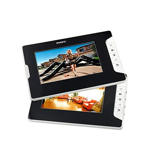 Videoportero con cámara, sistema de 4 cables, 7 pulgadas, 4 monitores para 2 fam (combinación: 2 monitores con 1 timbre)