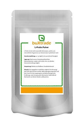 L-Prolin | Buxtrade | nicht essenzielle Aminosäure | Nahrungsergänzung | Prolin | 250 g