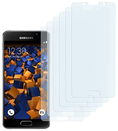 mumbi Schutzfolie kompatibel mit Samsung Galaxy A3 2016 Folie klar, Bildschirmschutzfolie (6X)