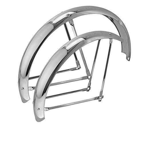 """20"""" Classic Adjustable Fender Set Chrome for Bikes"""