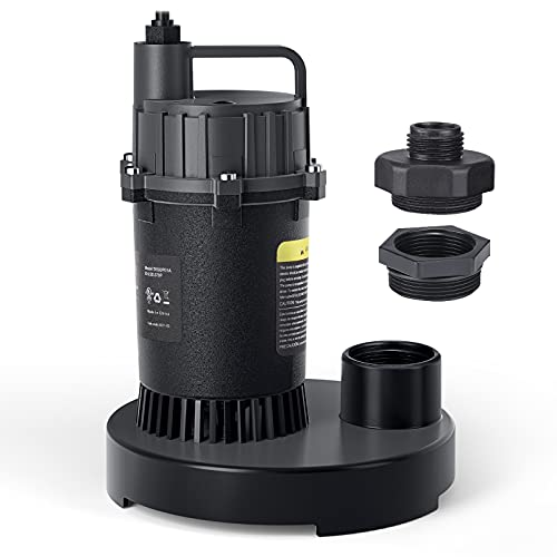 1/2 HP 3300GPH Submersible Clean/Dirty Water Sump Pump Now $34.99