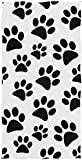 rodde Toalla de Mano Tamaño 30x15 Pulgadas Animal Paw Print Altamente Absorbente para el hogar Cocina Baño Gimnasio Swim SPA