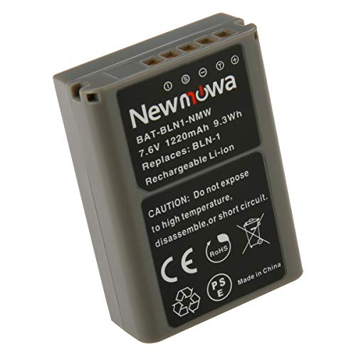 Newmowa BLN-1 バッテリー 1個 対応機種 Olympus BLN-1 BCN-1 Olympus OM-D E-M1 OM-D E-M5 PEN E-P5 OM-D E-M5 II
