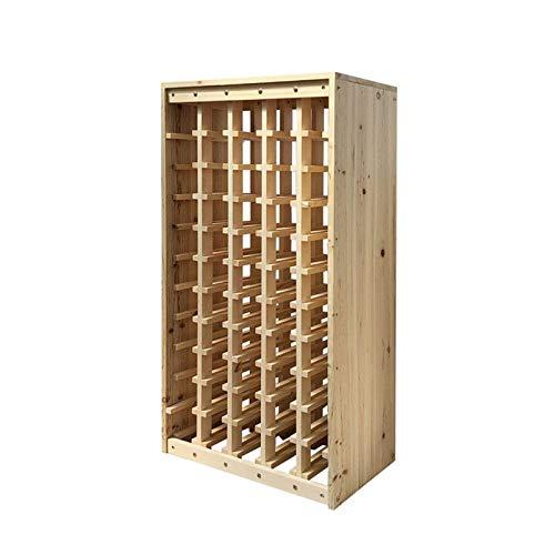 Estantes de vino, estanterías de vino de madera maciza, gabinetes de vino, visualización y almacenamiento de vinos, bastidores de madera, bastidores de madera, bastidores de almacenamiento, bastidores