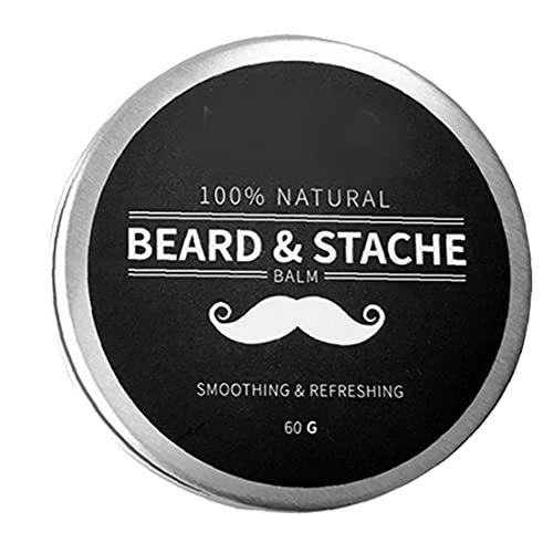 Naisicatar Barba Bálsamo para Hombre Crecimiento Cera Mantequilla Styling AZULTANTE ACONDICIONADOR HUZ DE Ingredientes Naturales