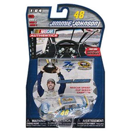 ACTION Seven Time 7X Champion Jimmie Johnson #48 Lowes NASCAR Cup Champion Collector Card NASCAR Authentics 1/64 Scale Diecast