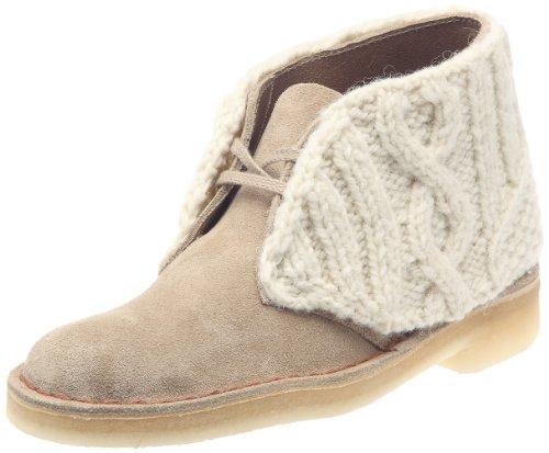 Clarks Originals Desert Boot Shetland Wool, Damen Stiefel, Beige, Gr. 38