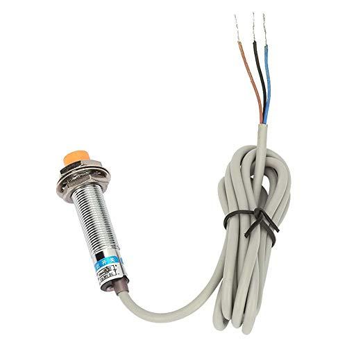 Interruptor del sensor de proximidad inductivos, LJ12A3-4-Z/BX DC 12-24V 3-Cables Sensor de inducción de proximidad NPN Interruptor normalmente abierto