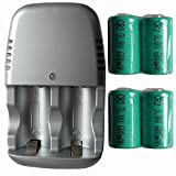 New 4 x Rechargeable CR2 CR-2 15270 Battery +Quick Charger FBA