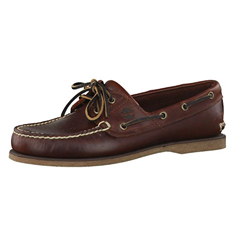 Timberland Men's Classic 2-Eye Boat Shoe, Rootbeer/Brown, 7 M