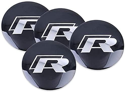 JinYuan Adecuado para Volkswagen R R Modificado Etiqueta de decoración de Rueda Etiqueta de Cubierta de Rueda Etiqueta de Coche Etiqueta de Rueda de Coche